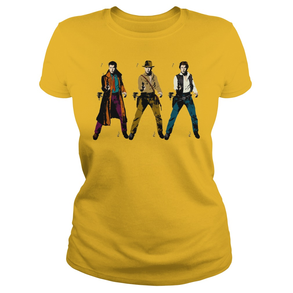 Harrison Tri-Ford shirt lady tee - Star Wars Harrison Ford shirt