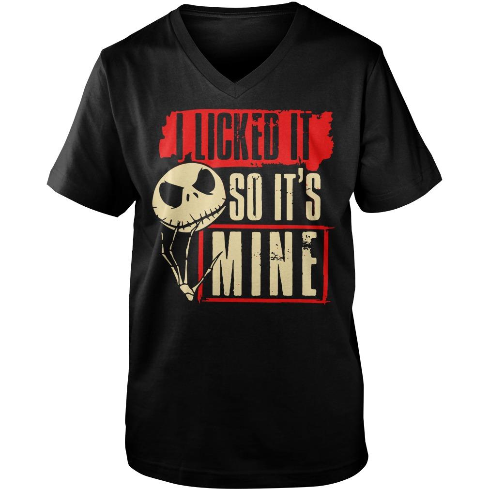 I licked it so it's mine shirt guy v-neck
