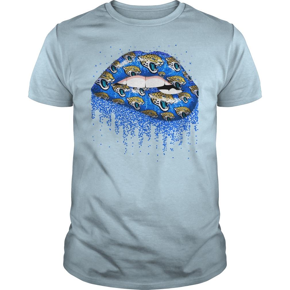 Jacksonville Jaguars love glitter lips shirt guy tee
