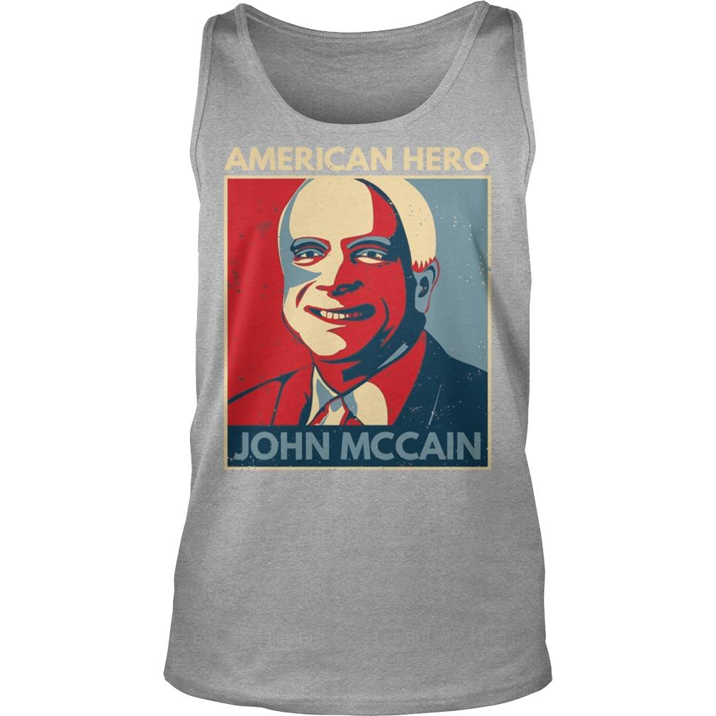 John McCain American hero shirt unisex tank top - John McCain American hero 1936-2018 shirt