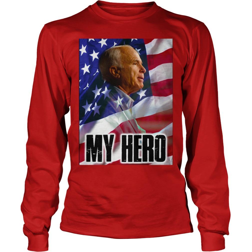 John McCain my hero shirt unisex longsleeve tee - John McCain hero shirt