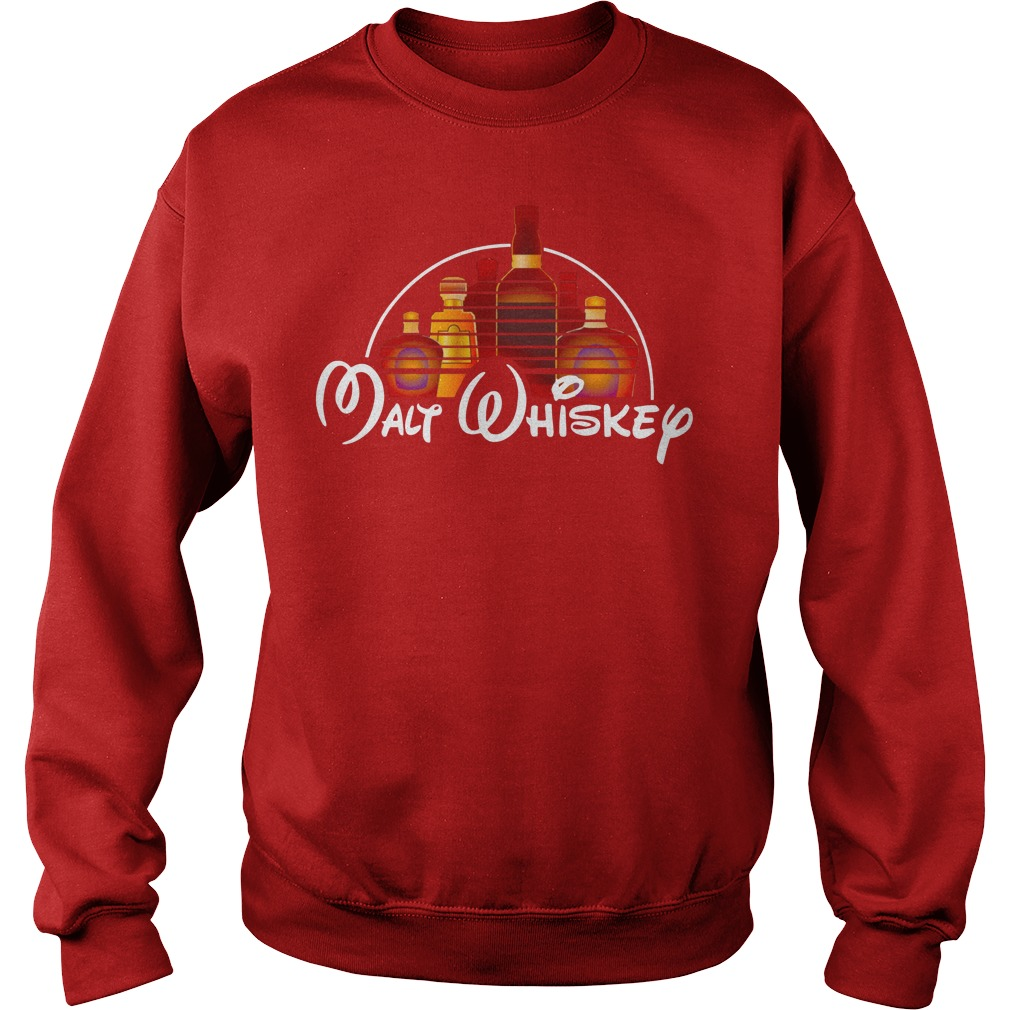Malt whiskey shirt sweat shirt - walt disney shirt