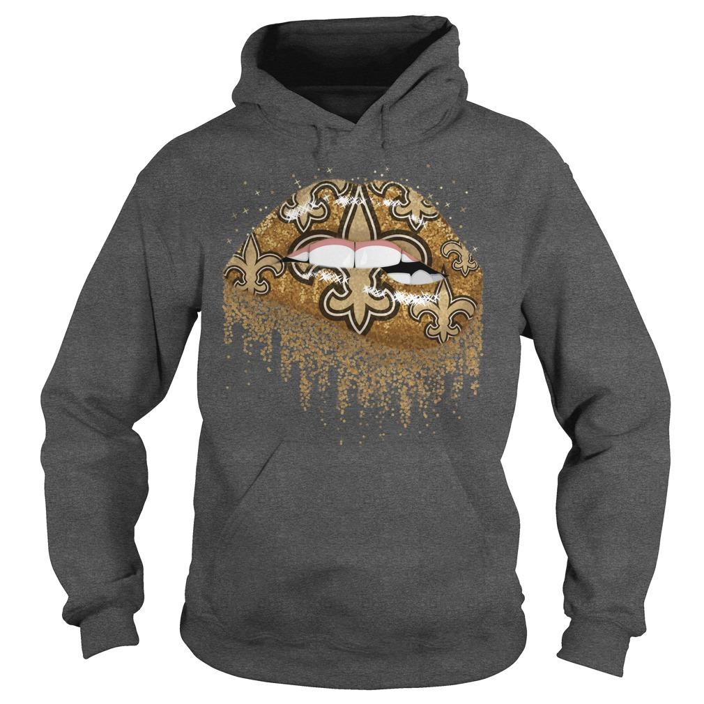 New Orleans Saints love glitter lips shirt hoodie