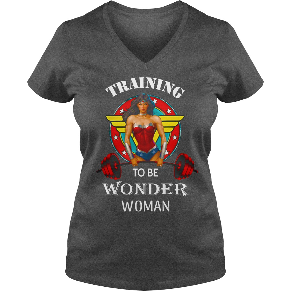 Training to be Wonder Woman shirt lady v-neck