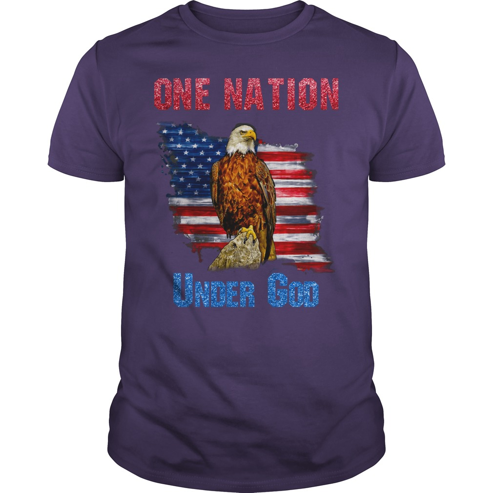 One nation under God eagle shirt guy tee