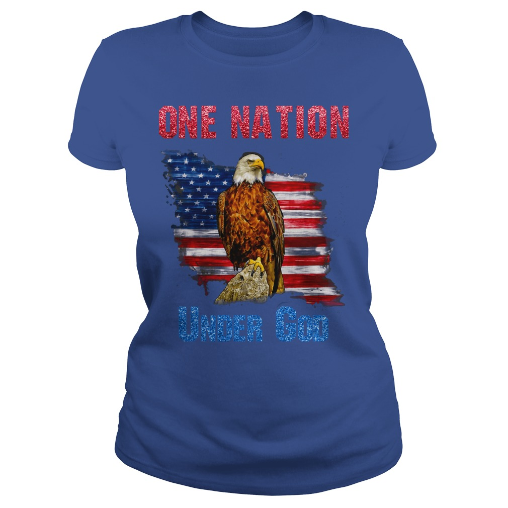 One nation under God eagle shirt lady tee