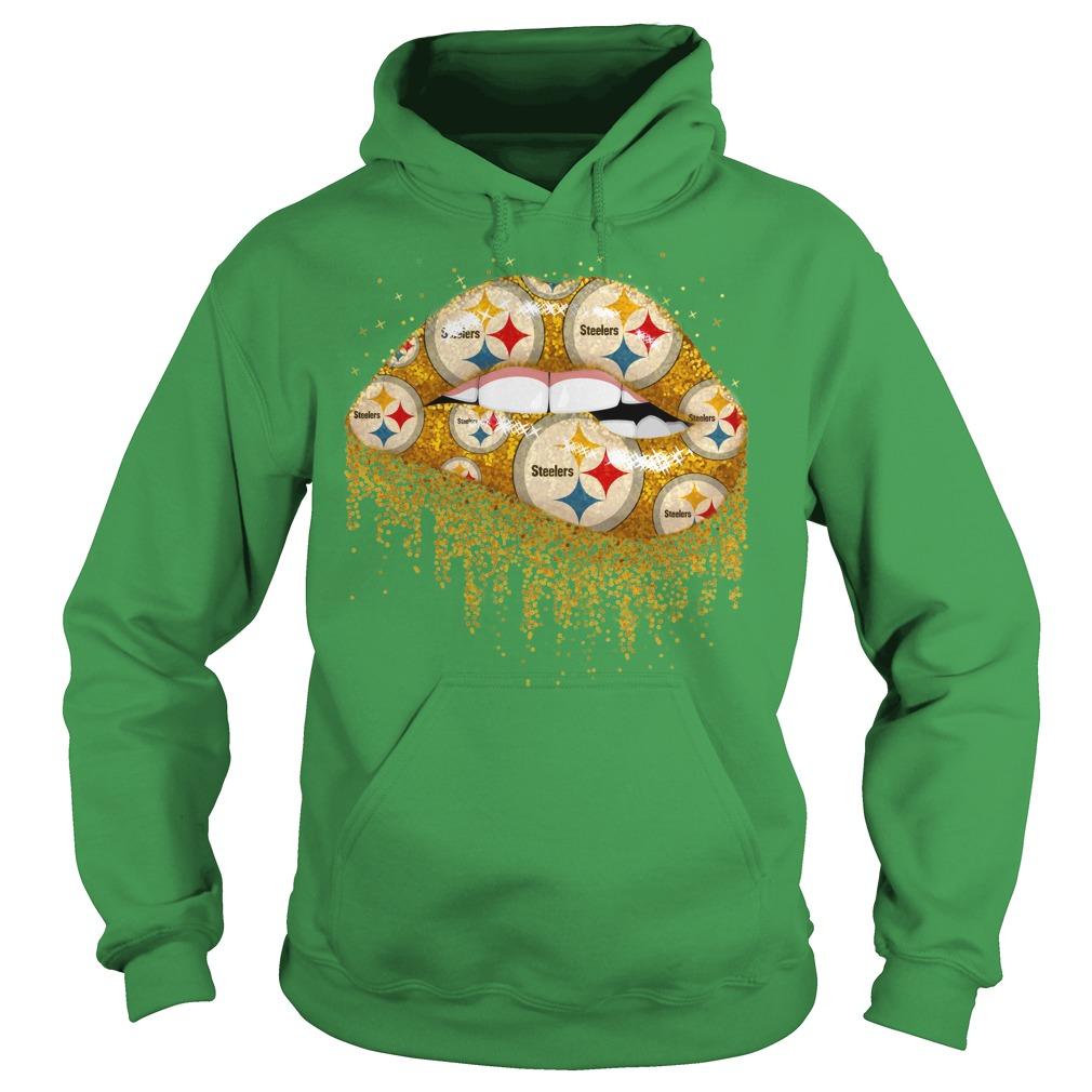 Pittsburgh Steelers love glitter lips shirt hoodie