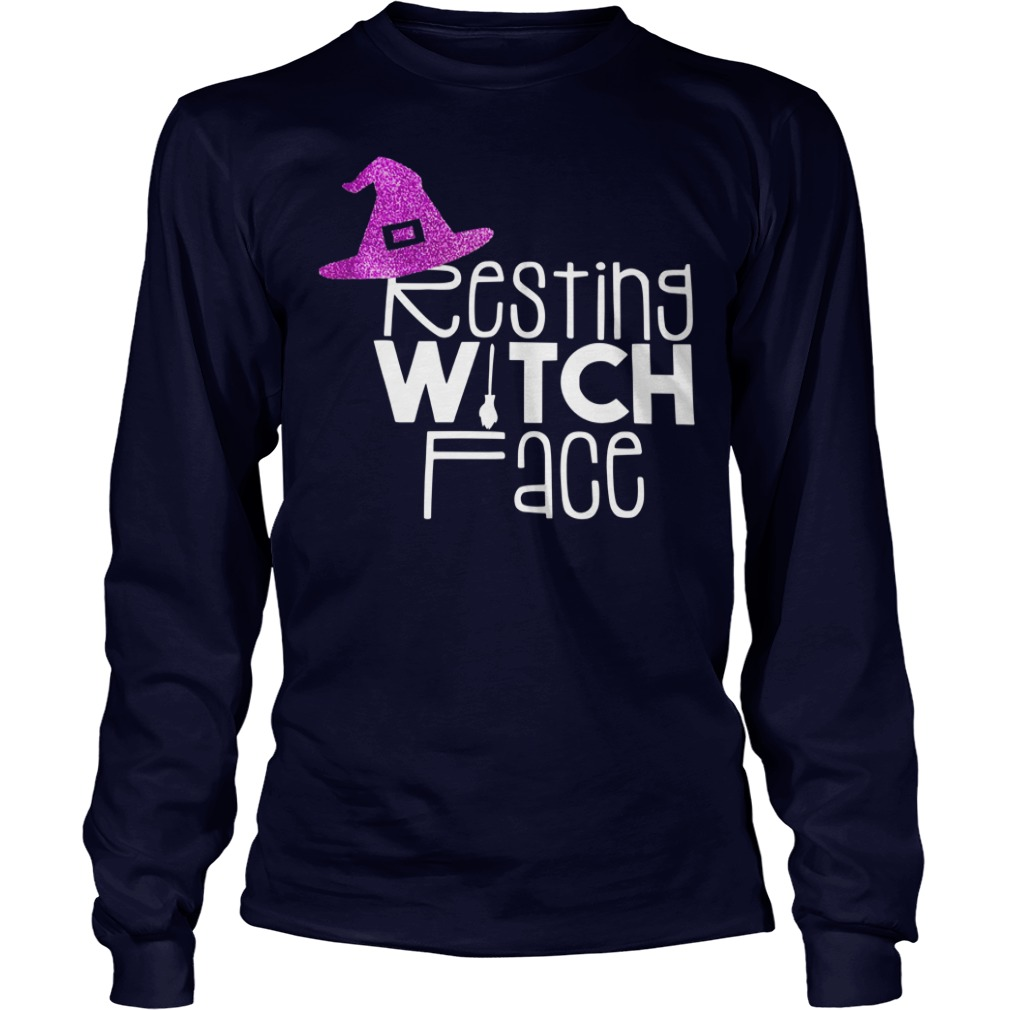 Resting witch face shirt unisex longsleeve tee