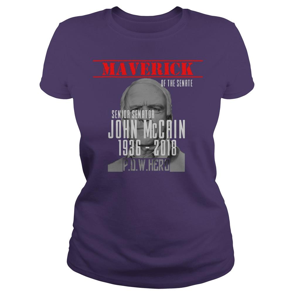 Rip John McCain 1936 2018 shirt lady tee - Rip John McCain shirt