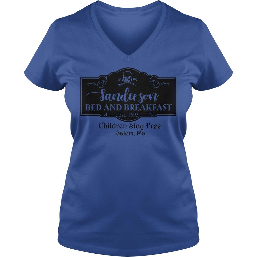 Sanderson bed and breakfast children stay free salem ma shirt lady v-neck