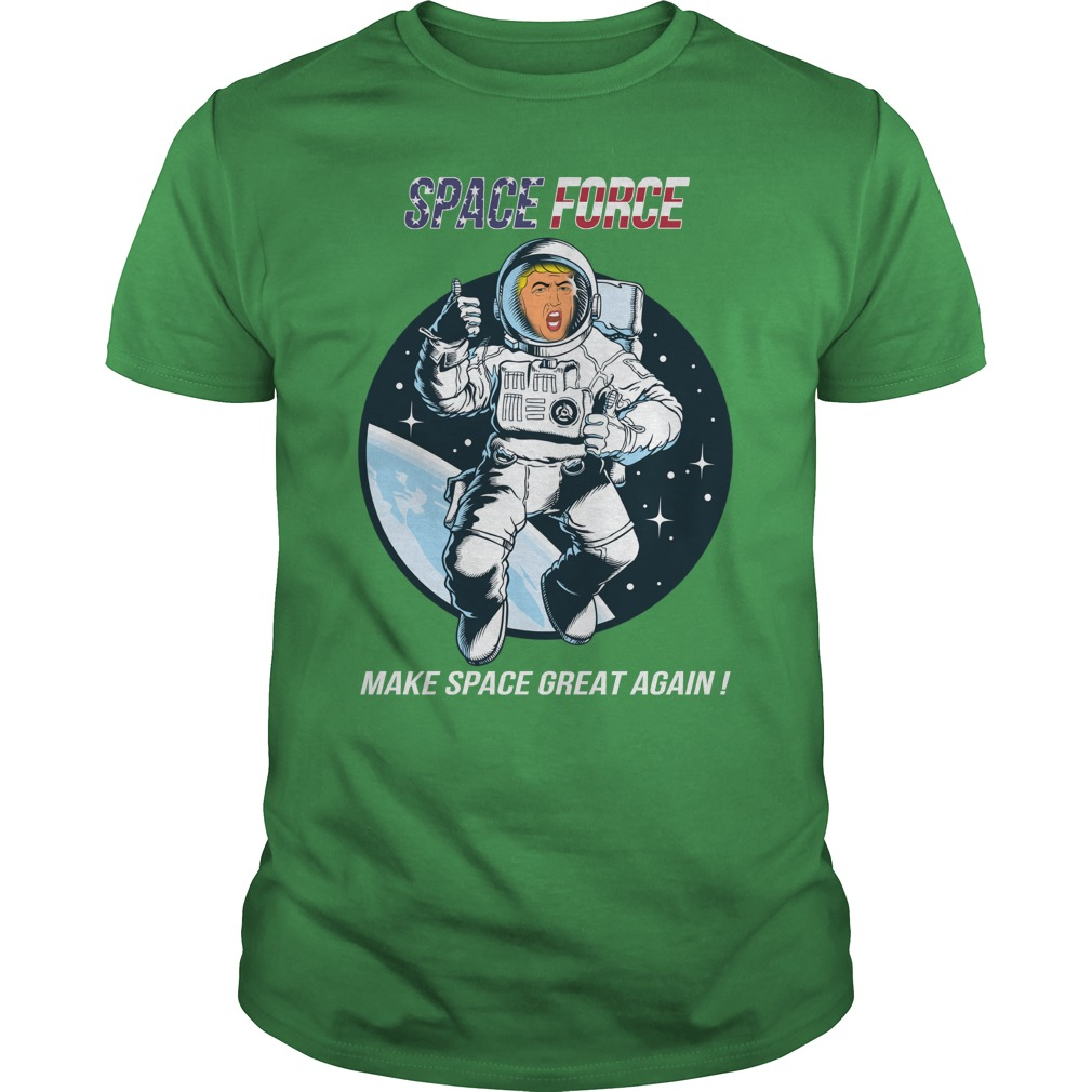 Space force make space great again shirt guy tee
