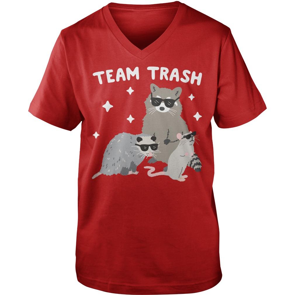 Team Trash Opossum Raccoon Rat shirt, hoodie, guy tee, team trash shirt