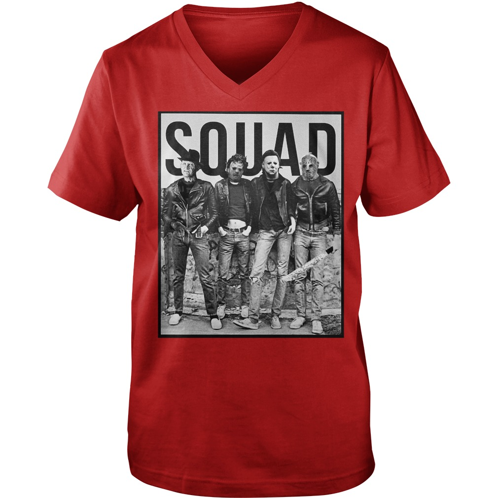 The Nightmare Ends on Halloween Squad shirt guy v-neck - The Nightmare Ends On Halloween shirt