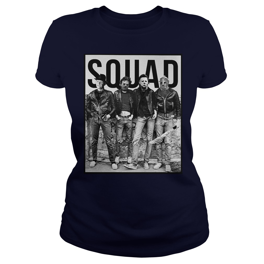 The Nightmare Ends on Halloween Squad shirt lady tee - The Nightmare Ends On Halloween shirt