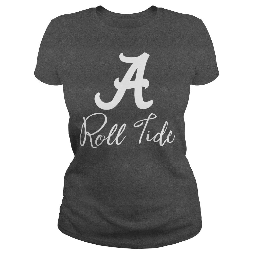 Alabama Crimson Tide Ruffle and Ready lady tee