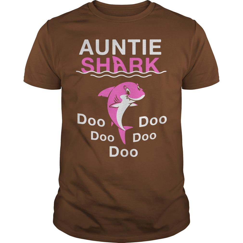Auntie Shark Doo Doo Doo shirt guy tee