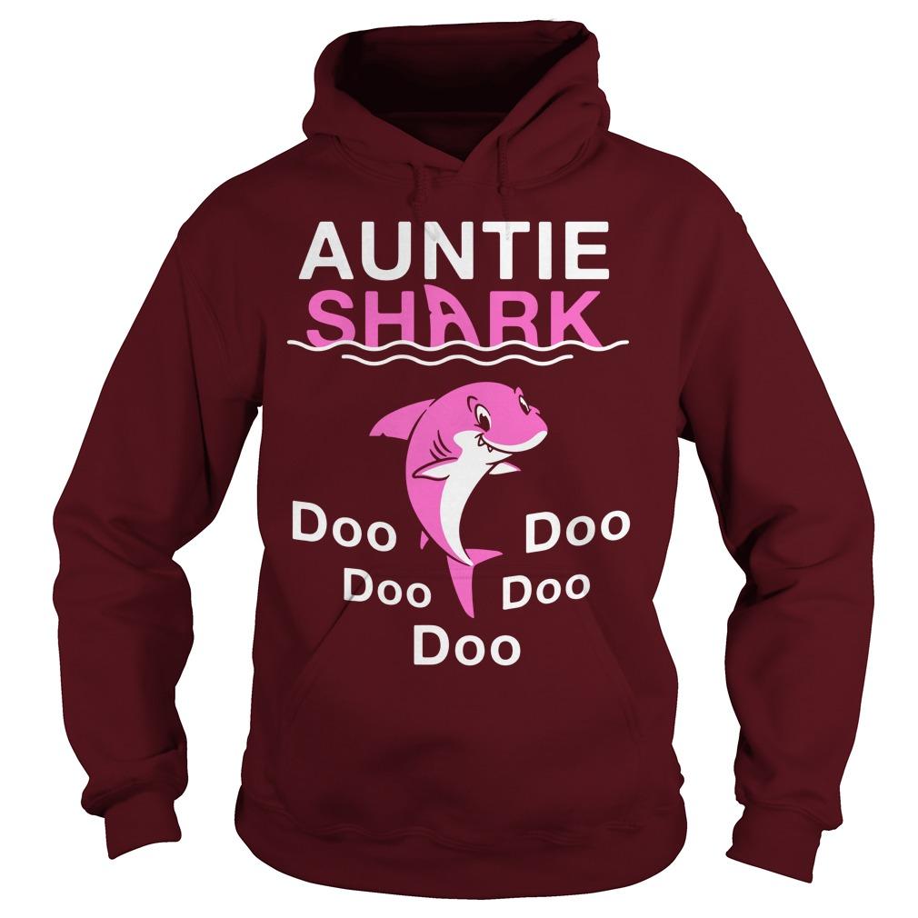 Auntie Shark Doo Doo Doo shirt hoodie