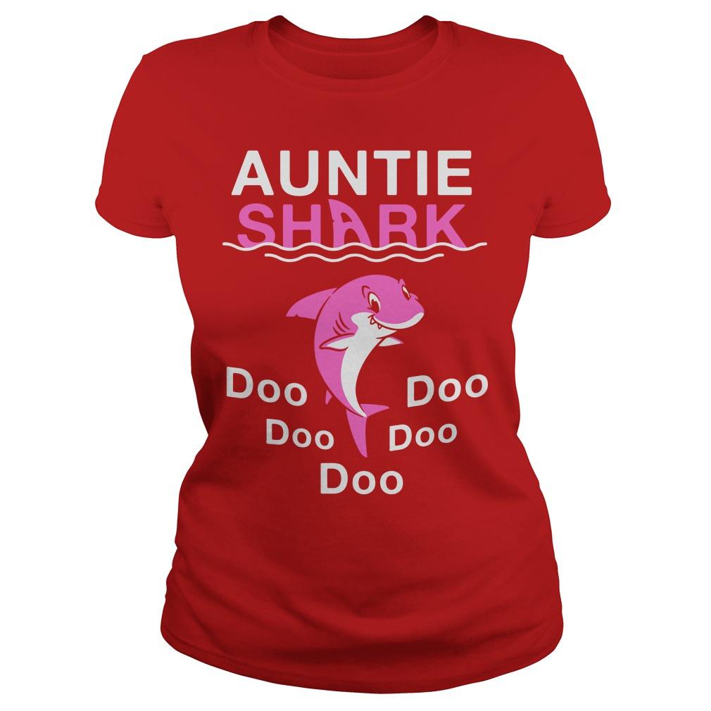 Auntie Shark Doo Doo Doo shirt lady tee