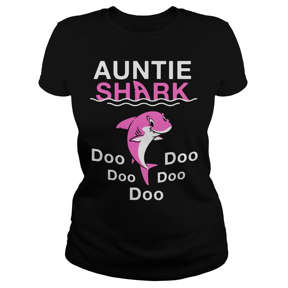 5290e42f Auntie Shark Doo Doo Doo shirt, guy tee, lady tee | Myteashirts