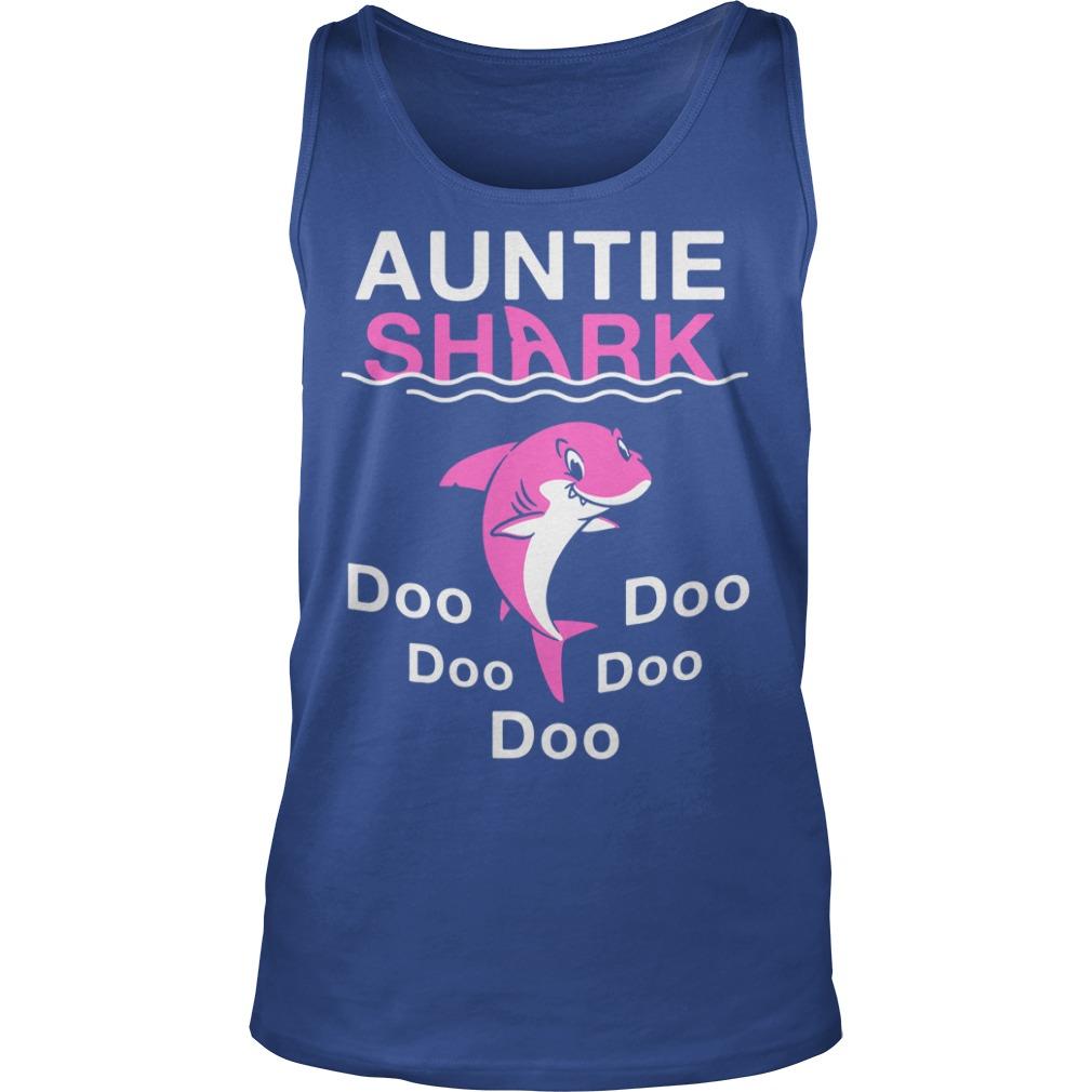 Auntie Shark Doo Doo Doo shirt unisex tank top