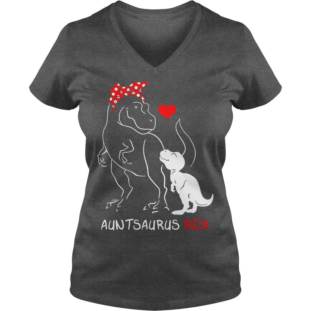 Auntsaurus Rex shirt lady v-neck