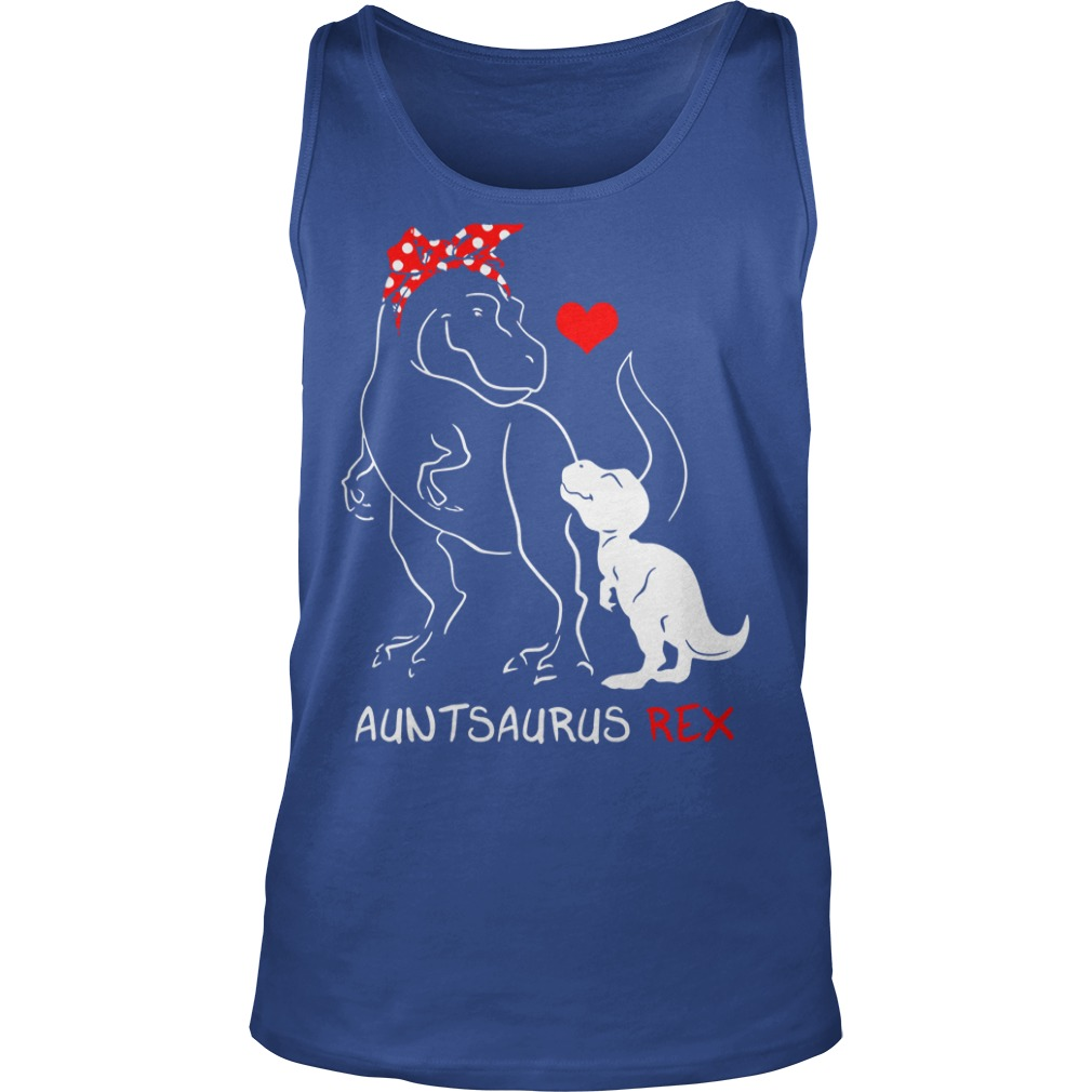 Auntsaurus Rex shirt unisex tank top