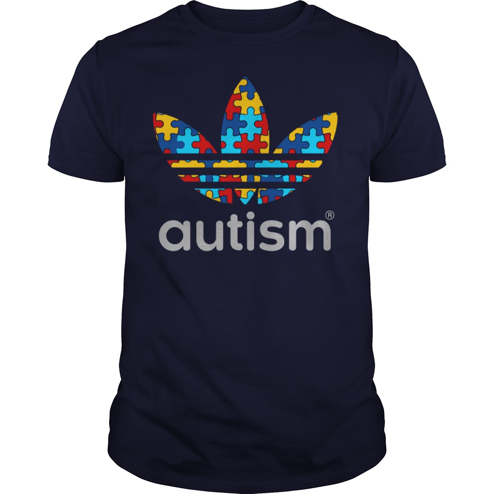 Autism Awareness Adidas shirt guy tee