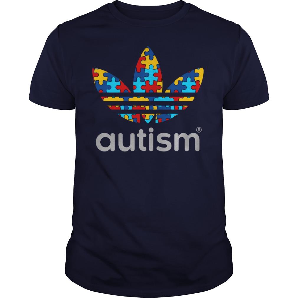 Autism Awareness Adidas shirt guy tee