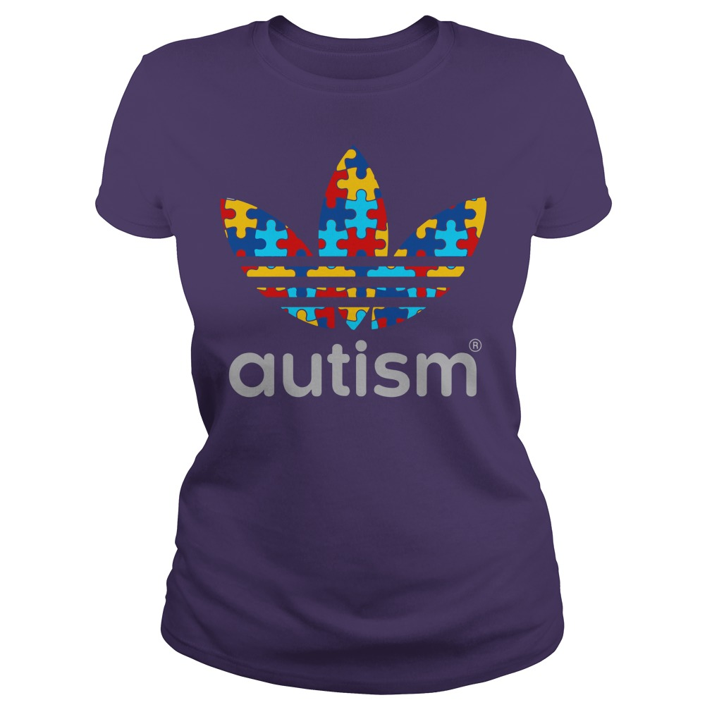 Autism Awareness Adidas shirt lady tee
