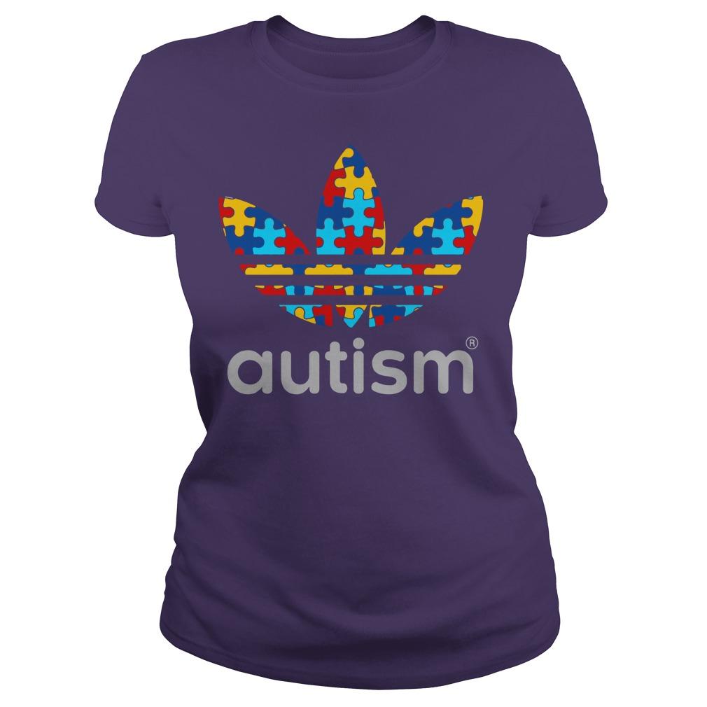 Autism Awareness Adidas shirt lady tee