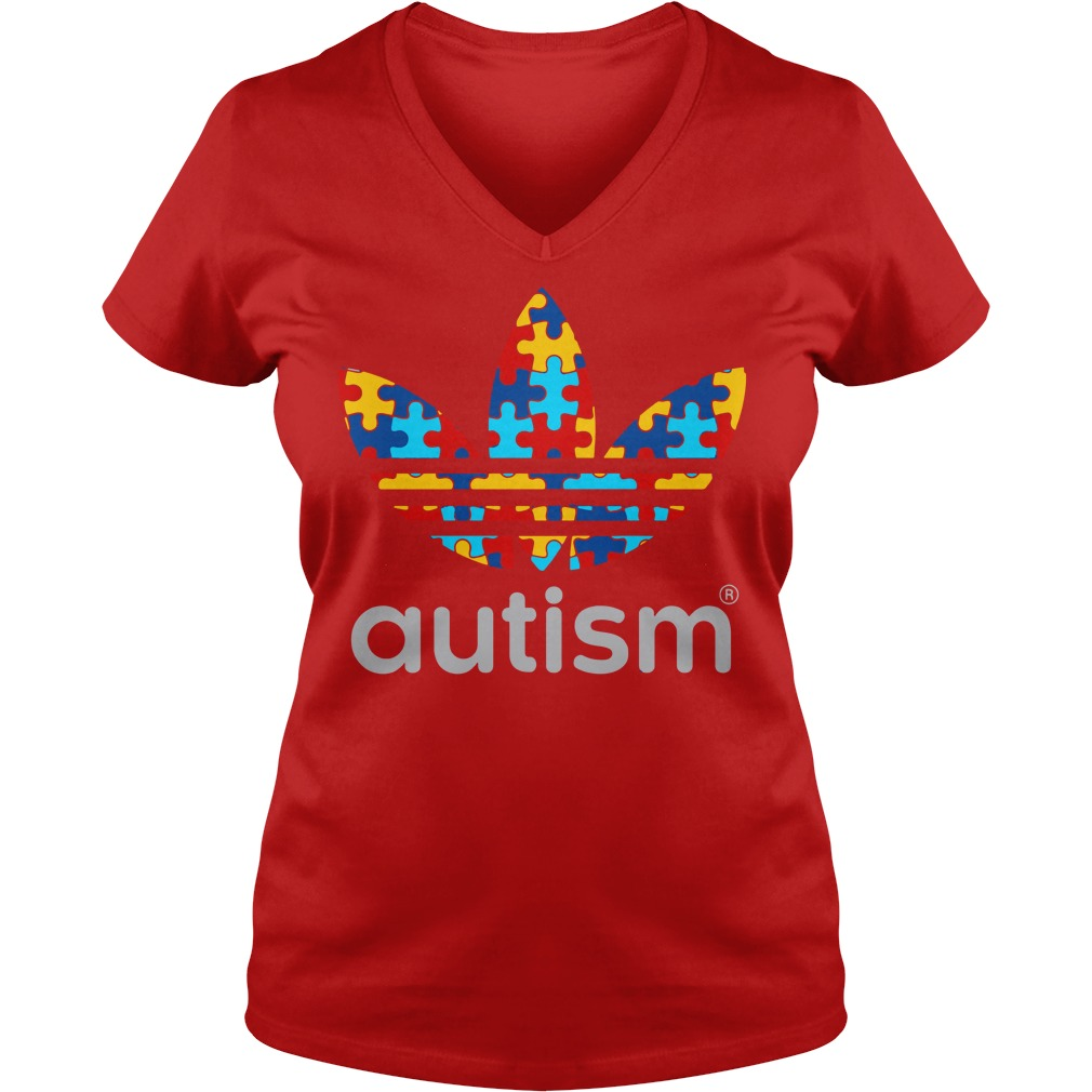 Autism Awareness Adidas shirt lady v-neck