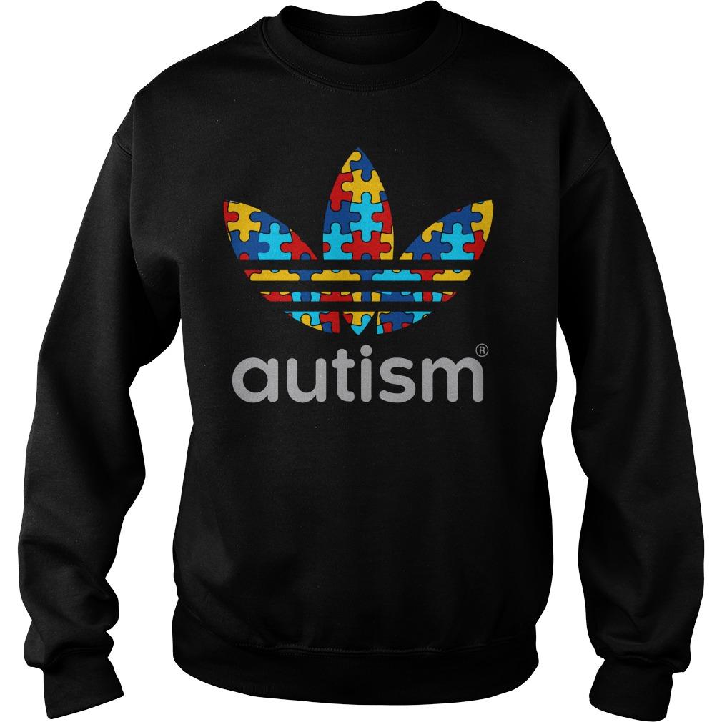 Autism Awareness Adidas shirt sweat shirt