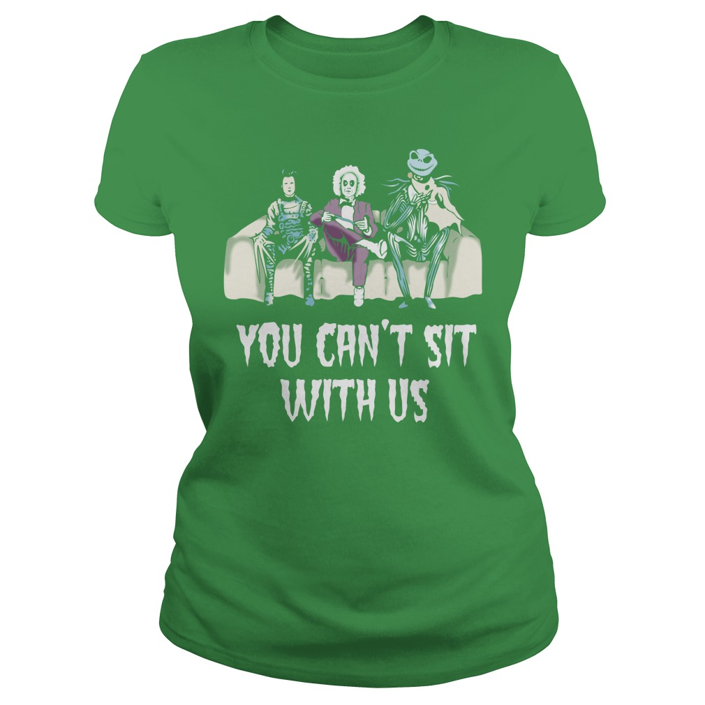 Beetlejuice Edward Jack Tim Burton characters You can't sit with us shirt lady tee