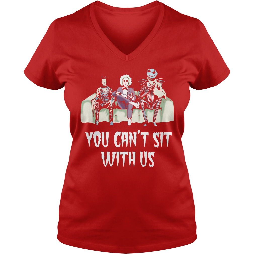 Beetlejuice Edward Jack Tim Burton characters You can't sit with us shirt lady v-neck