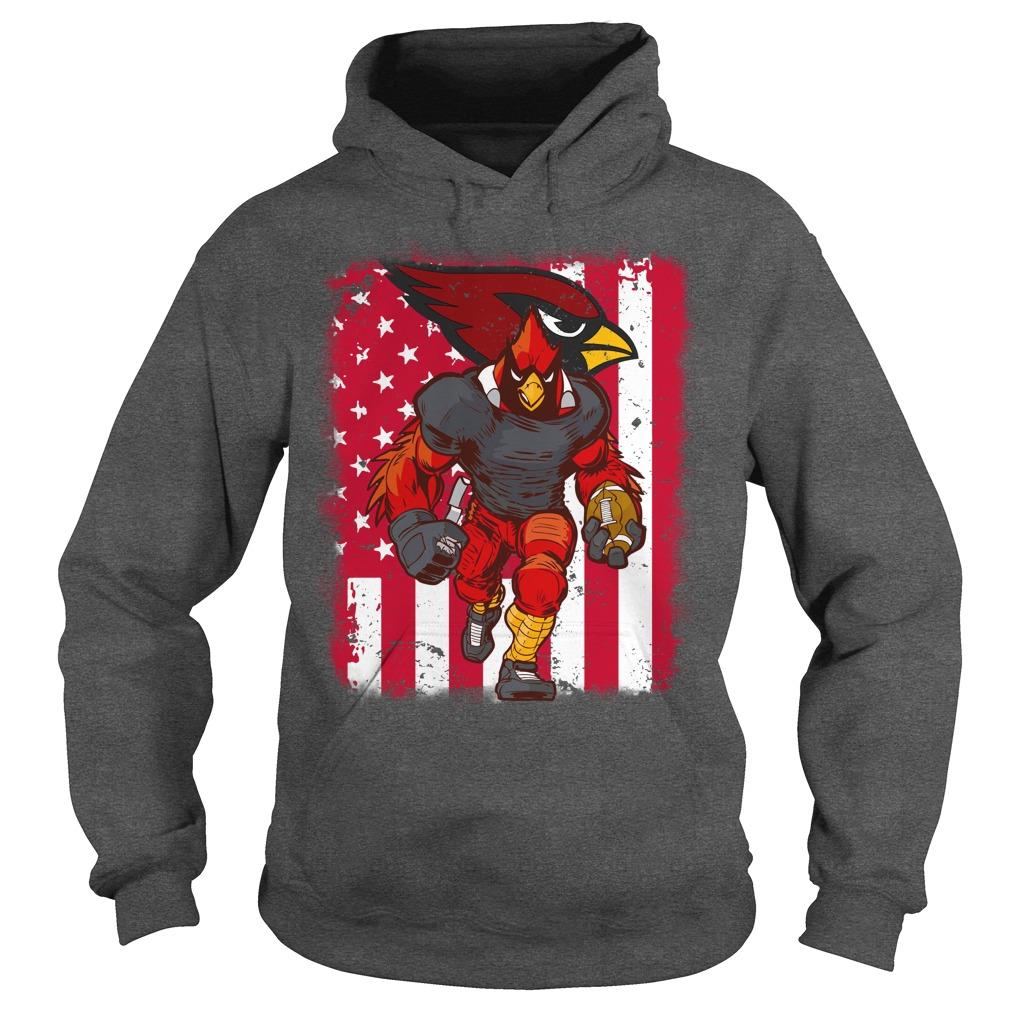 Big Red Arizona Cardinals mascot american flag shirt hoodie