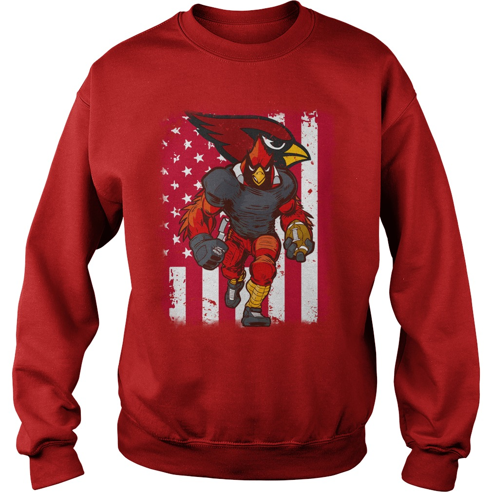 Big Red Arizona Cardinals mascot american flag shirt sweat shirt