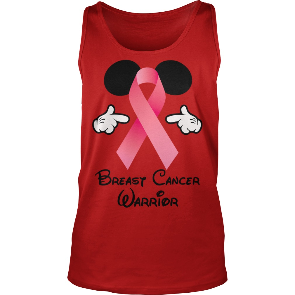 Breast Cancer Warrior Mickey Mouse shirt unisex tank top