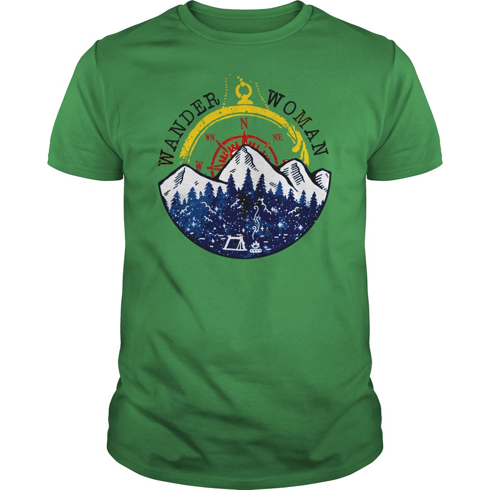 Camping Wander Woman Hiking Vintage shirt guy tee