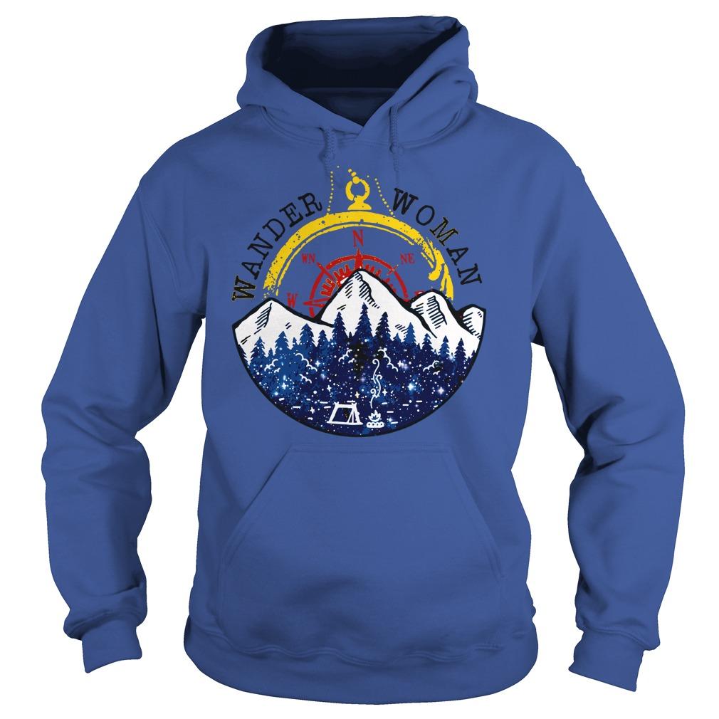 Camping Wander Woman Hiking Vintage shirt hoodie