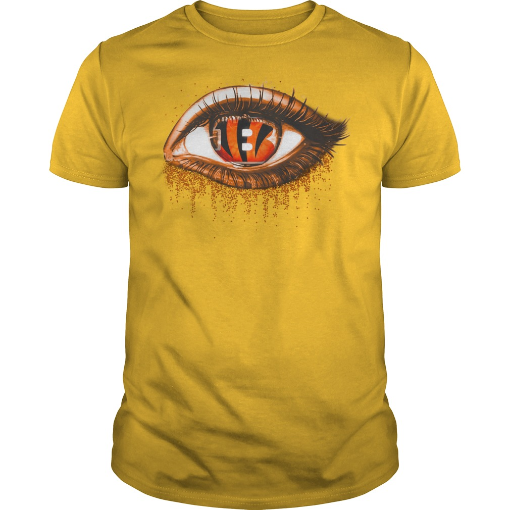 Cincinnati Bengals eye glitter shirt guy tee