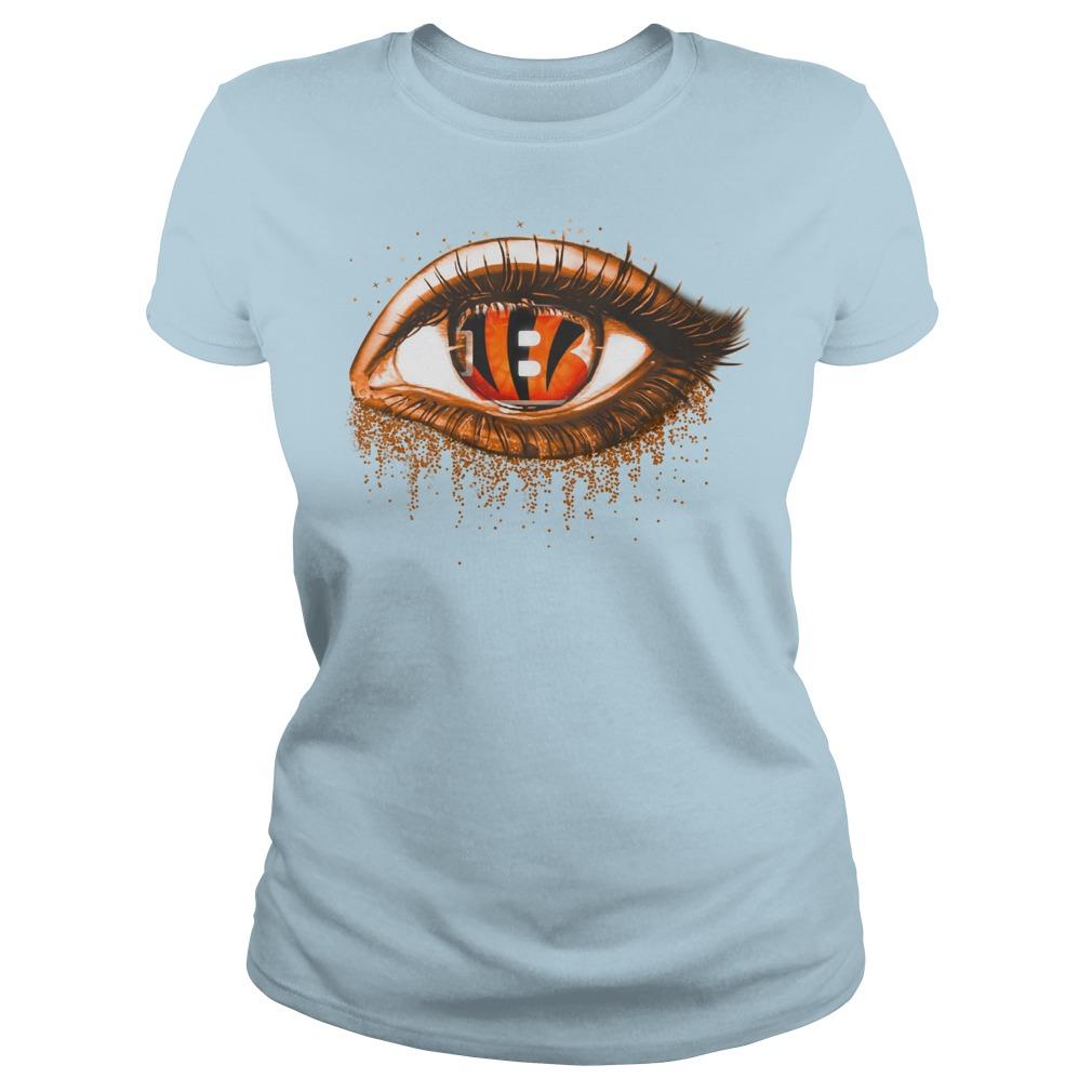 Cincinnati Bengals eye glitter shirt lady tee