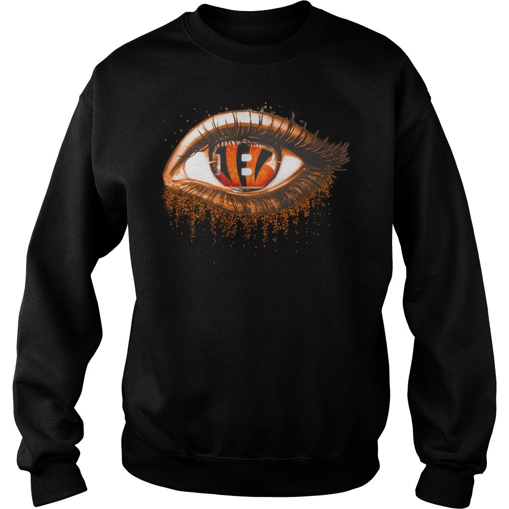 Cincinnati Bengals eye glitter shirt sweat shirt