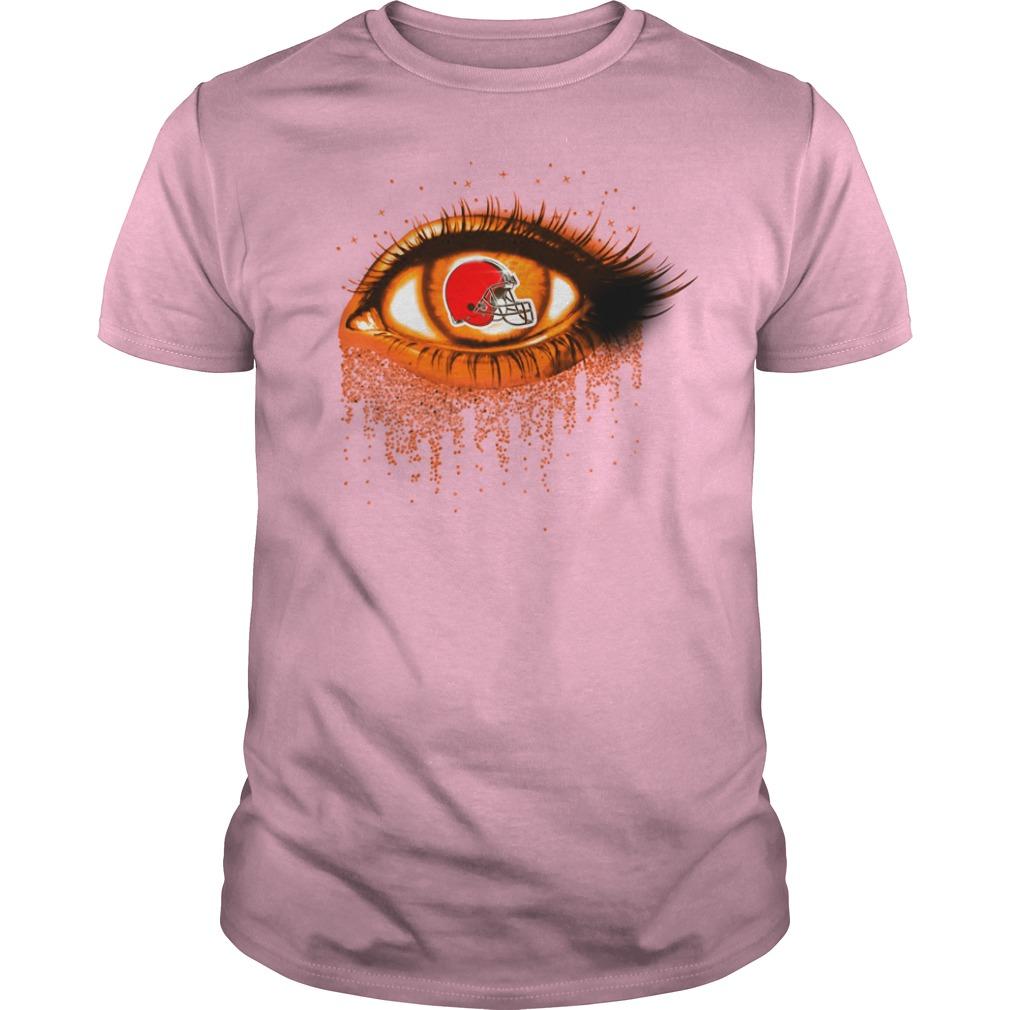 Cleveland Browns - Eye Glitter guy tee