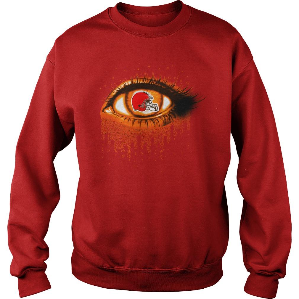 Cleveland Browns - Eye Glitter sweat shirt