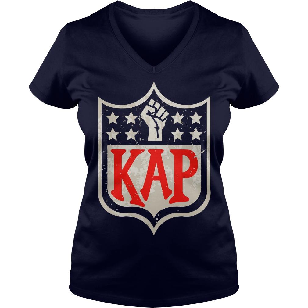 Colin Kaepernick Kap NFL shield shirt lady v-neck
