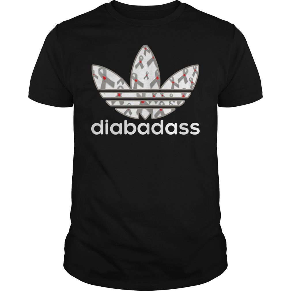 Diabadass adidas diabetes shirt guy tee