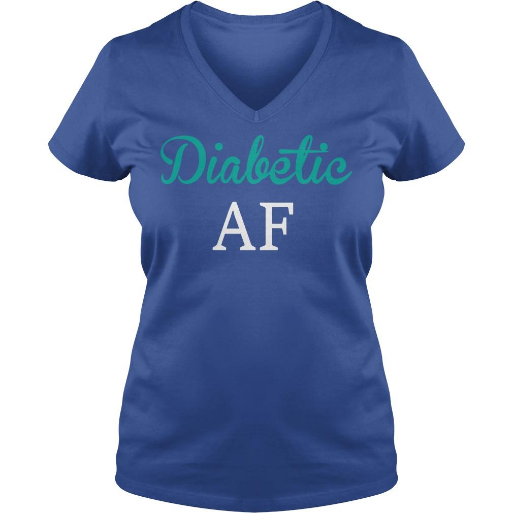 Diabetic AF shirt lady v-neck