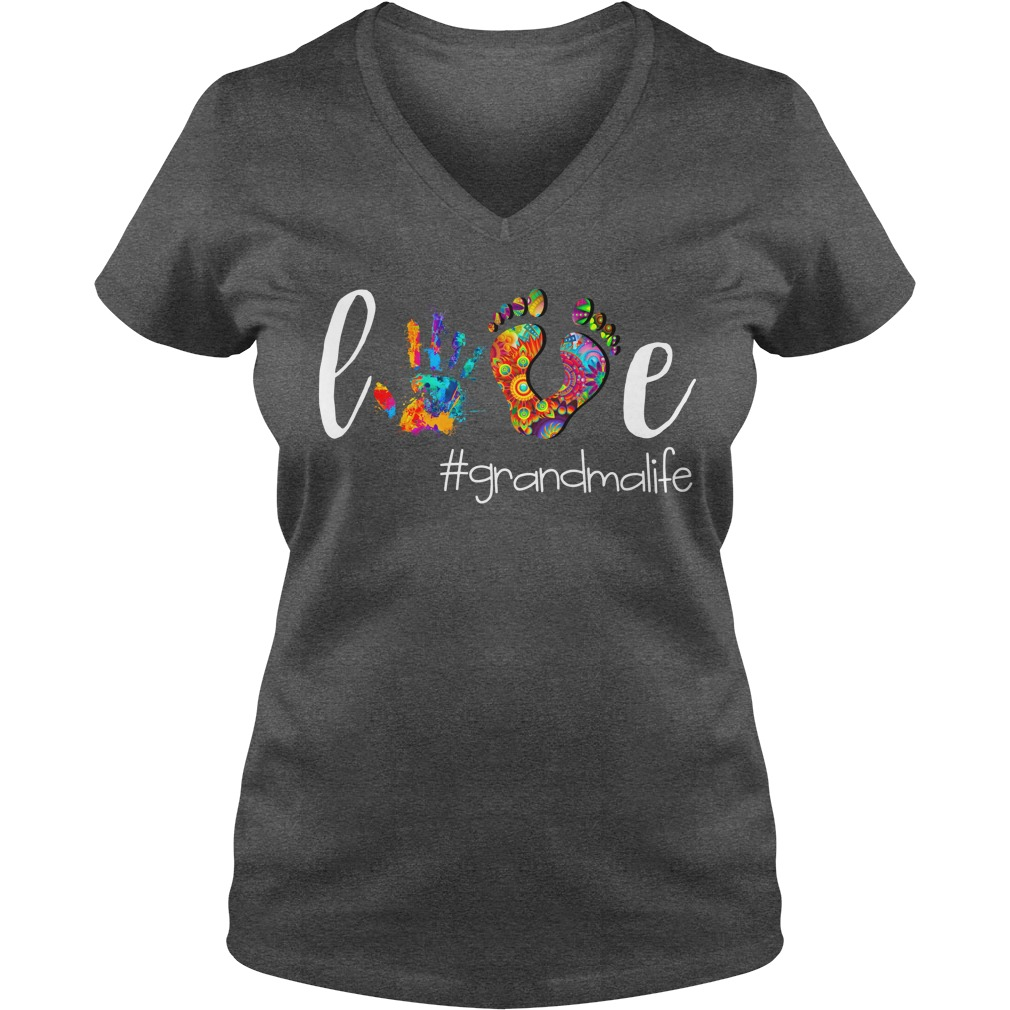 Grandma Love GrandmaLife shirt lady v-neck