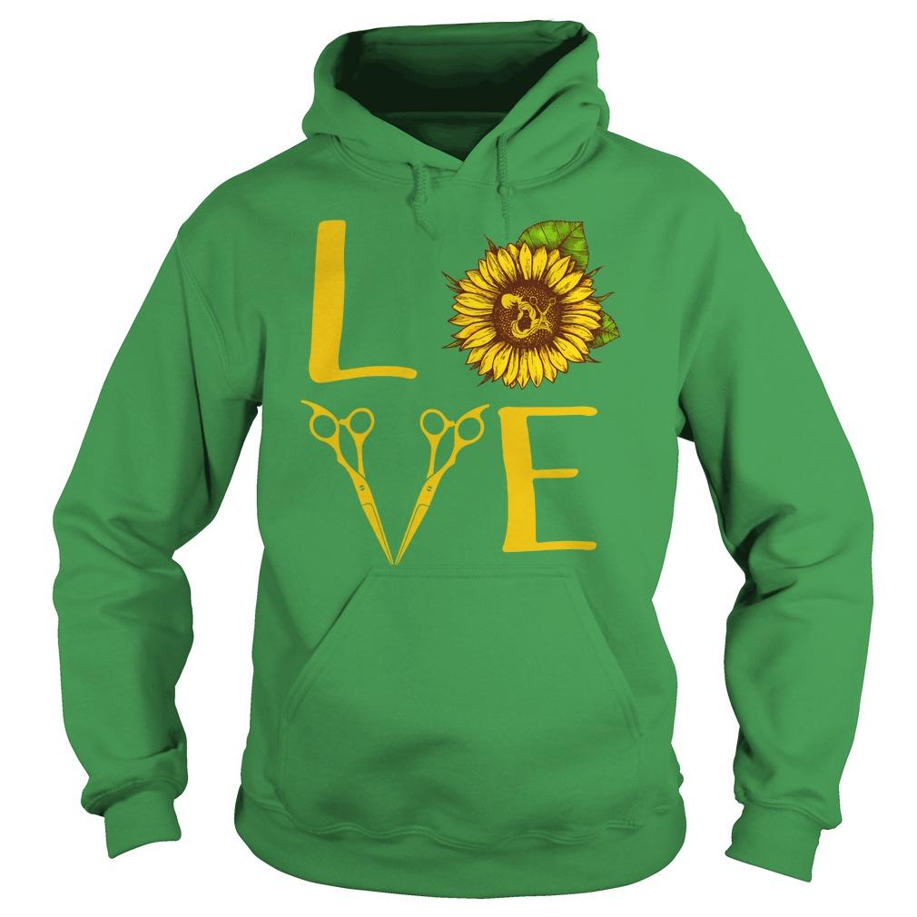 Hair stylist love sunflower shirt hoodie