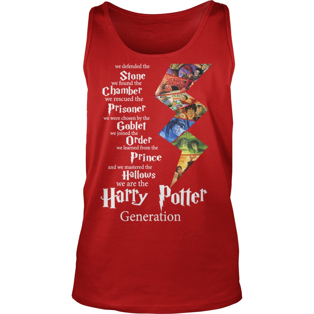 Harry Potter generation Stone chamber prisoner goblet order prince hallows shirt unisex tank top - Harry Potter generation Stone chamber shirt